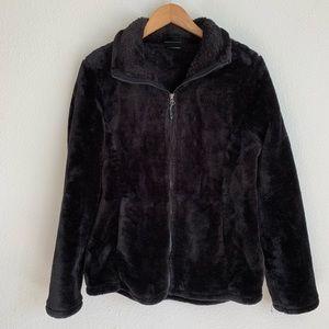 32 Degree Heat fuzzy faux fur zip up jacket